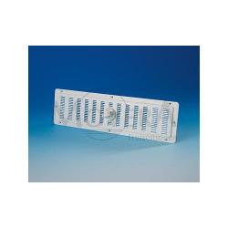 Grelha rectangular branca ventilação 325x105